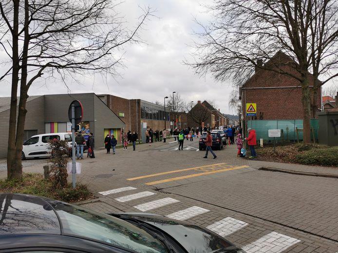De Vaucampslaan in Huizingen die gedeeltelijk mee in het uitvoeringsplan is opgenomen.