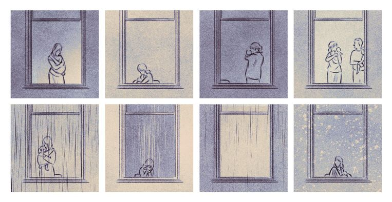 'Hij wordt voortdurend huilend en wurmend met zijn lijfje wakker' Beeld Isabel Seliger