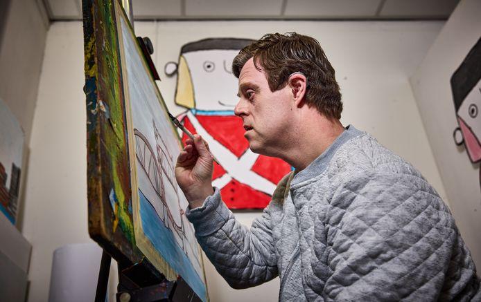 De schilderijen van Marco zijn oer-Rotterdams en gaan heel de wereld over.
