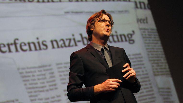 Festivaldirecteur Rutger Wolfson tijdens de opening van het IFFR vorig jaar. Beeld anp