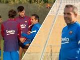 Sergi Barjuán leidt eerste training Barça na ontslag Koeman