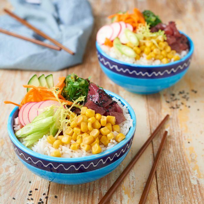 Pokébowl met tonijn
