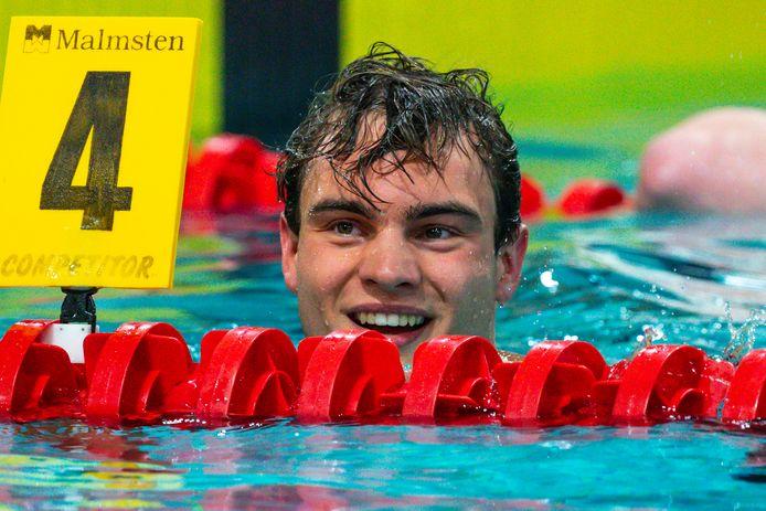 Nyls Korstanje tijdens de Eindhoven Qualification Meet.