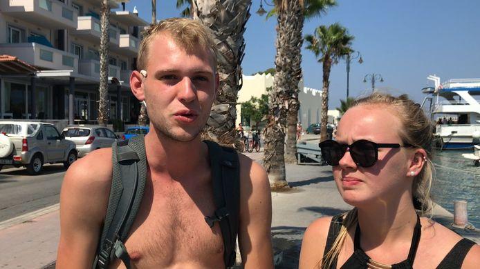 Tim en Roos in Kos