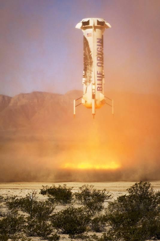 Een raket van Blue Origin.