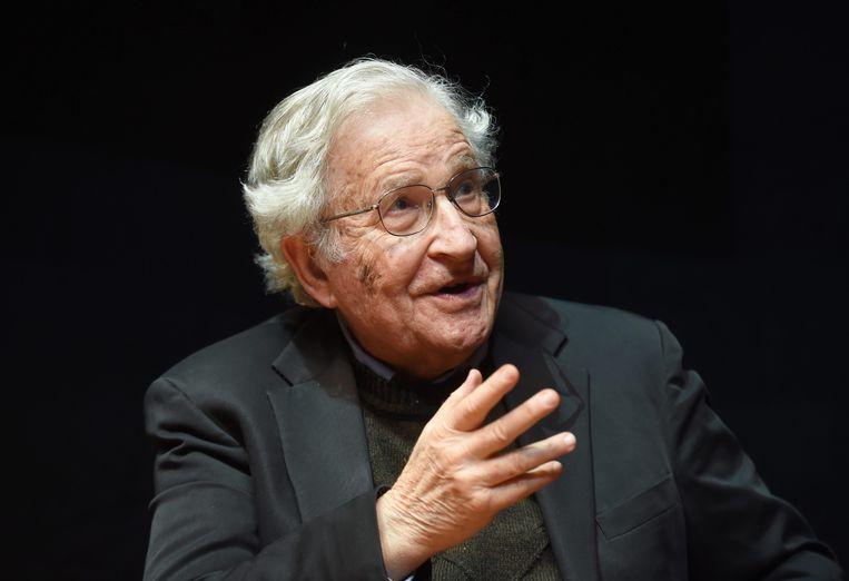 Econoom en taalkundige, Noam Chomsky.  Beeld EPA