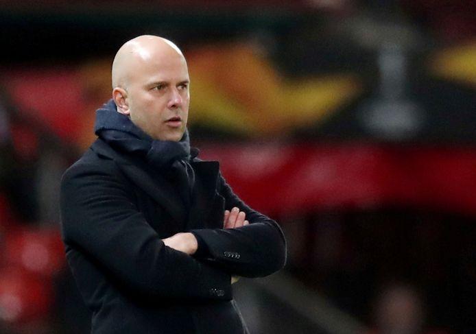 Arne Slot is al regelmatig bij Feyenoord te vinden. Dick Advocaat vindt dat prima.
