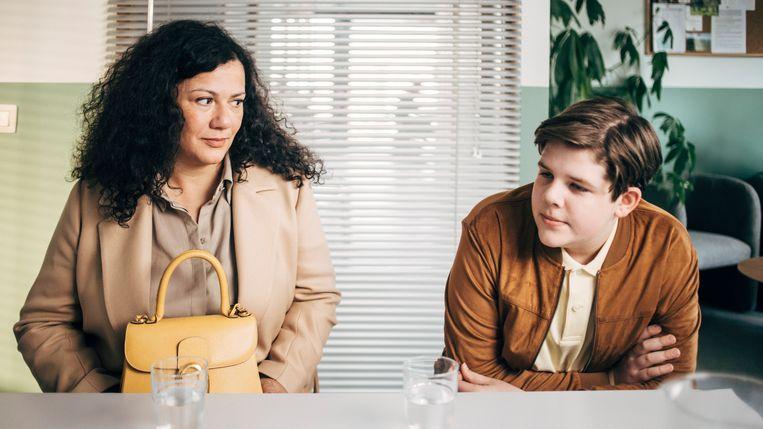 Hilde Destoop (Bea) en Jerom Tillmans (Arthur) in 'Albatros'. Beeld VRT