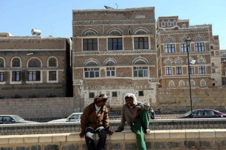 Het oude centrum van de de Jemenitische hoofdstad Sanaa. De Verenigde Staten hebben hun ambassade daar zondag gesloten. Foto ANP Beeld