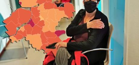 KAART   Zowel landelijk als in de regio meer besmettingen, aantal ziekenhuisopnames daalt wel