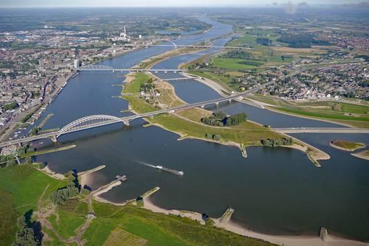 Overzicht van Stadseiland Veur-Lent.