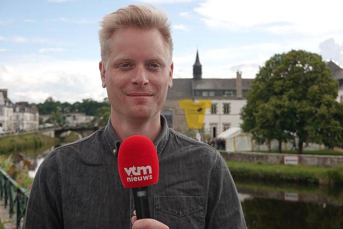 Stijn Vlaeminck, reporter VTM in de Tour de France
