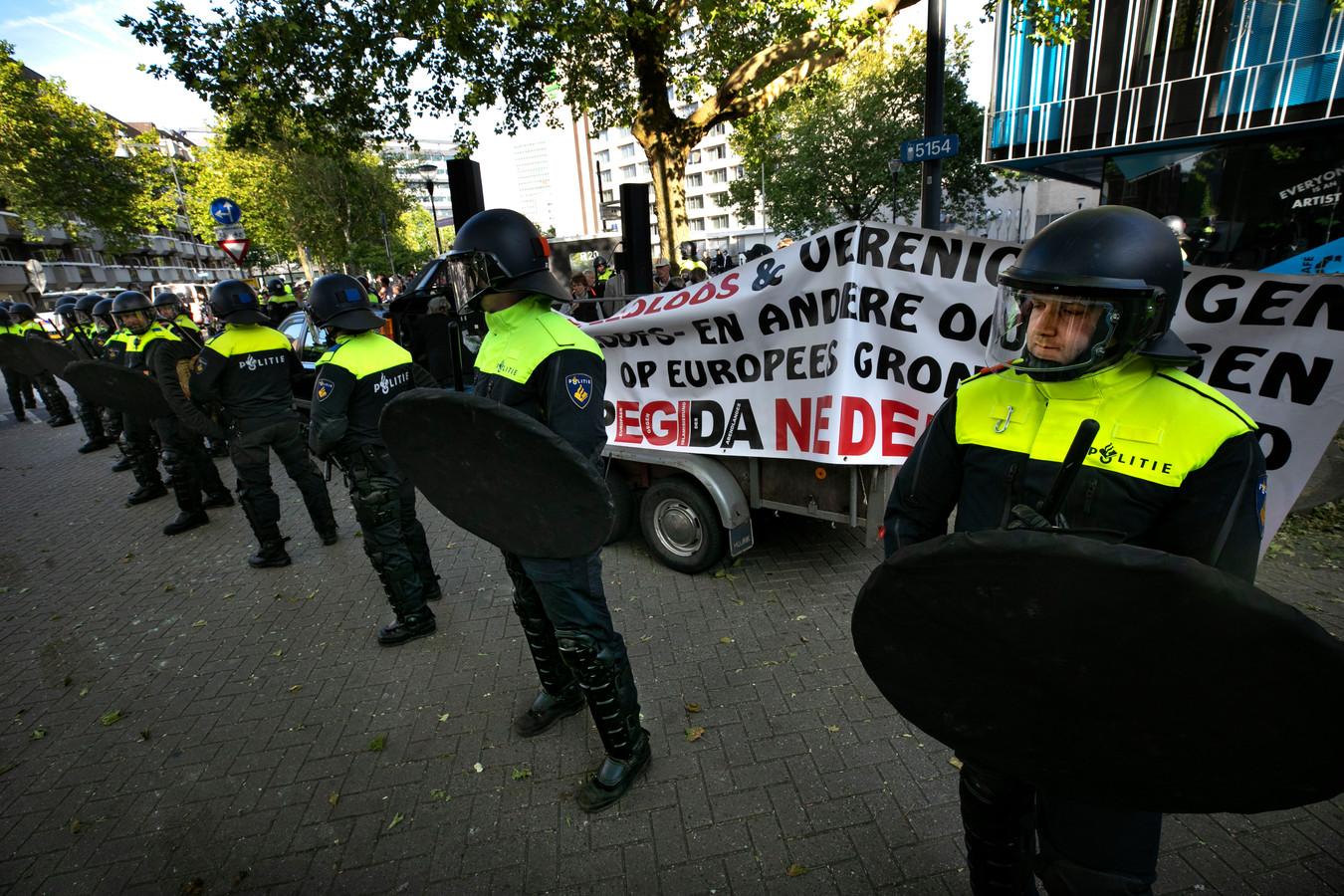 De Pegida-betoging in Eindhoven in mei 2019.