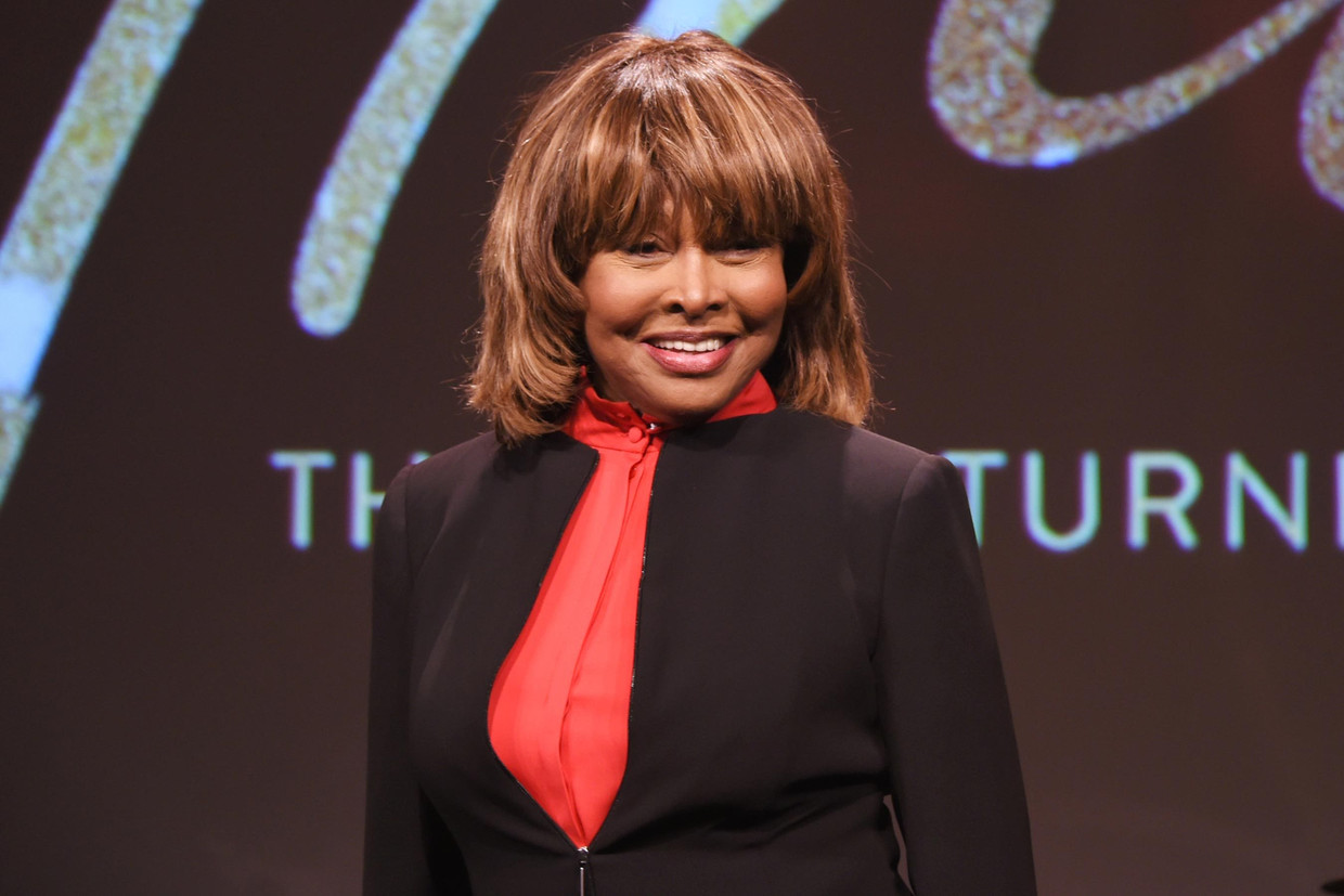 "Tina Turner is de hoofdgast bij 'Tina: The Tina Turner Musical"" in London, 2017. Beeld Getty Images Europe"