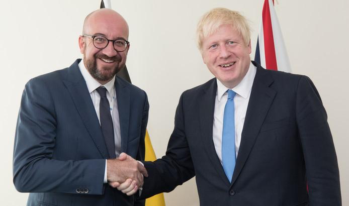 Charles Michel et Boris Johnson.