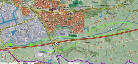 Maximaal negen windmolens extra in Deventer en die komen dan langs de A1; groot deel buitengebied valt af