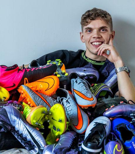 Wessel (24) verkoopt unieke voetbalschoenen: 'Het ging ineens keihard, mijn Instagram ontplofte'