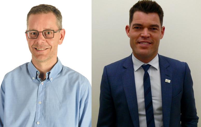 Steven Mattheus (links) en Bart Van der Velde.