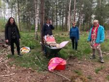 Waardering voor natuur neemt toe in coronatijd: volwassen vrouwen bouwen hutten in Markelo