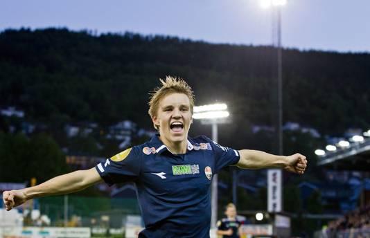 Martin Odegaard als speler van Strømsgodset.