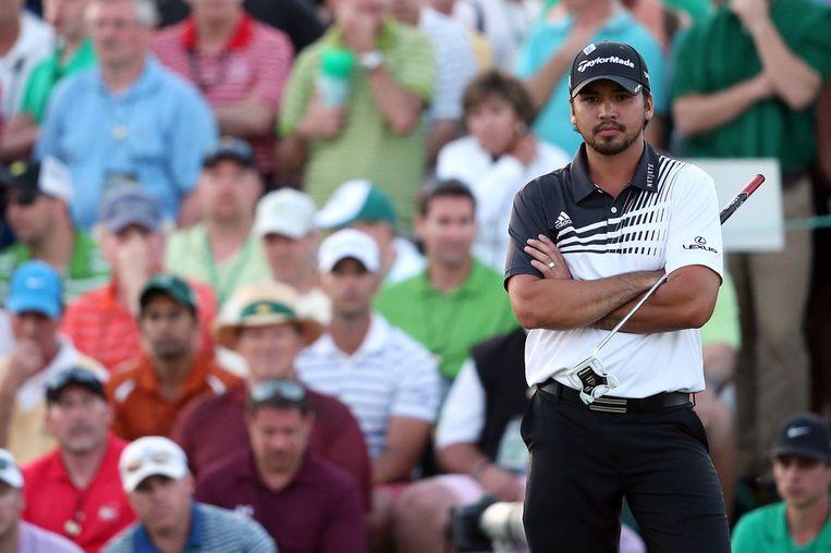 De Australische golfer Jason Day, leider van het klassement na dag twee van de Masters. Beeld afp
