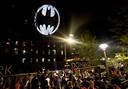Ook op de Domino Sugar Refinery in Brooklyn werd het signaal van Batman afgebeeld.