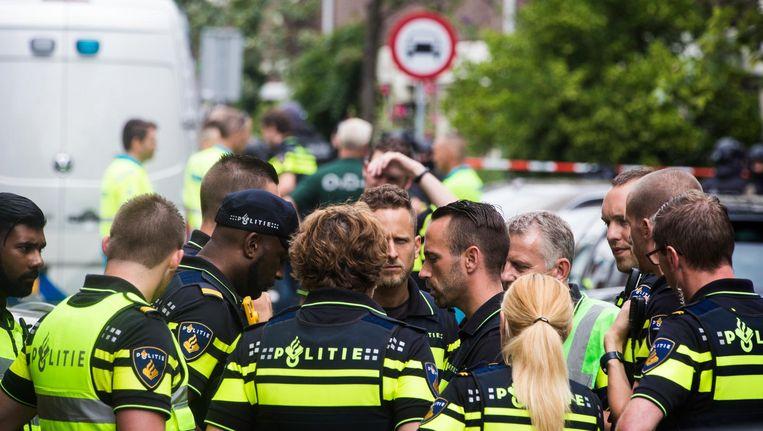 Diversiteit komt maar mondjesmaat voor bij de politie. Beeld Maarten Brante