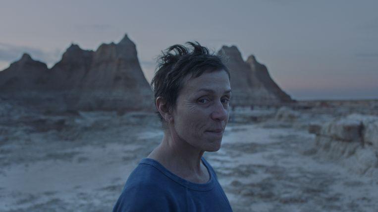 Frances McDormand in Nomadland. Beeld
