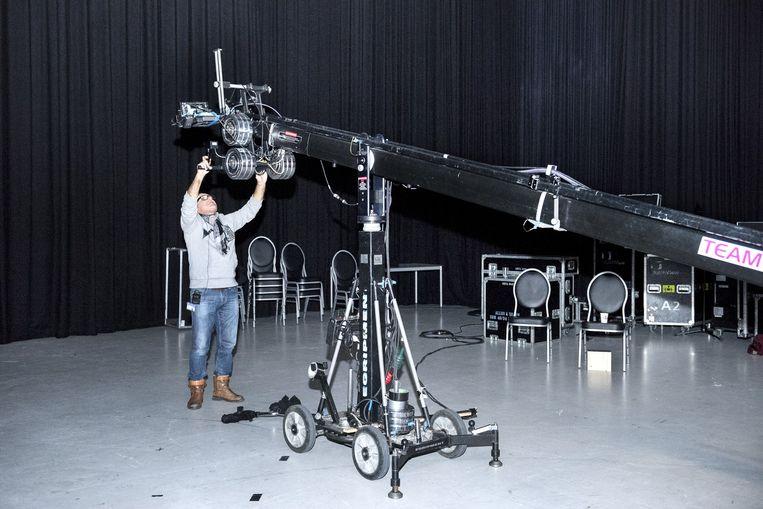 Cameraman aan het werk. Beeld Sanne de Wilde