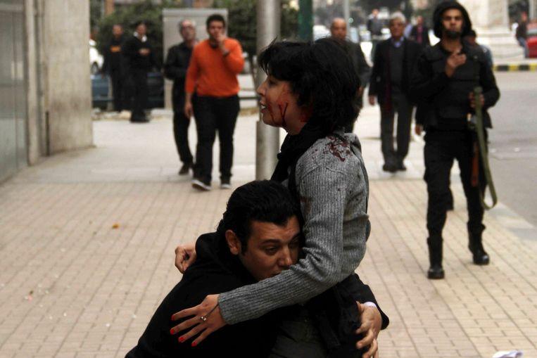 Activiste Shaimaa al-Sabbagh werd in 2015, op weg naar het Tahrirplein, doodgeschoten door de politie.  Beeld REUTERS