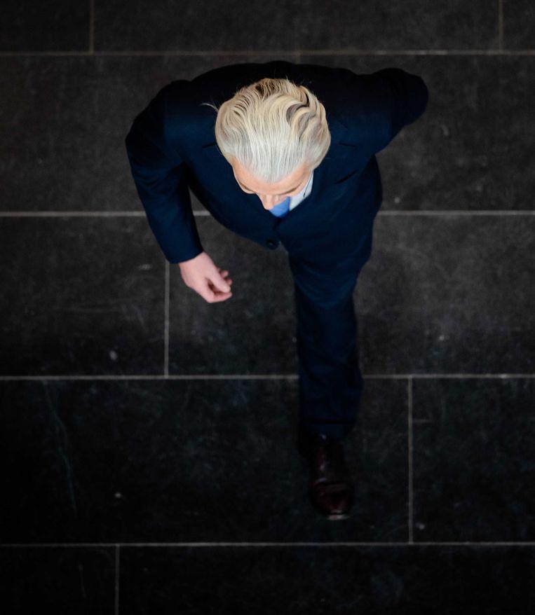 Geert Wilders (PVV) voorafgaand aan het RTL Verkiezingsdebat. Beeld ANP