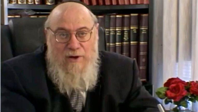 Rabbijn Mendel Epstein op archiefbeeld. Beeld YouTube