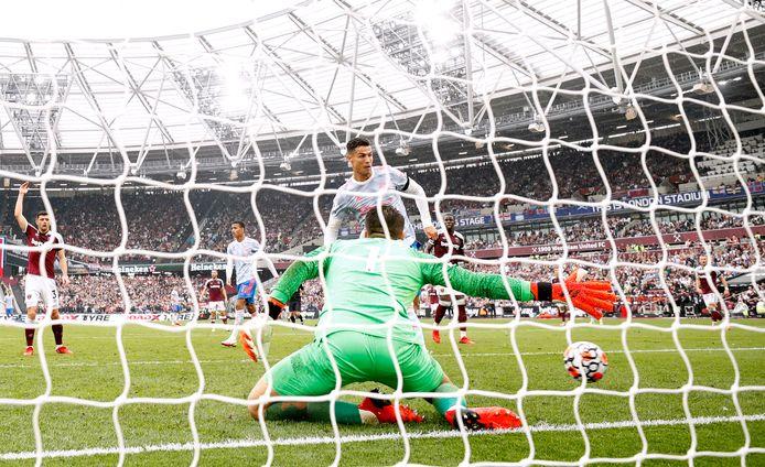 Ronaldo gisteren alweer trefzeker voor Man United in het London Stadium van West Ham.