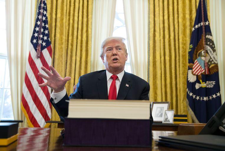 President Donald Trump in het Oval Office