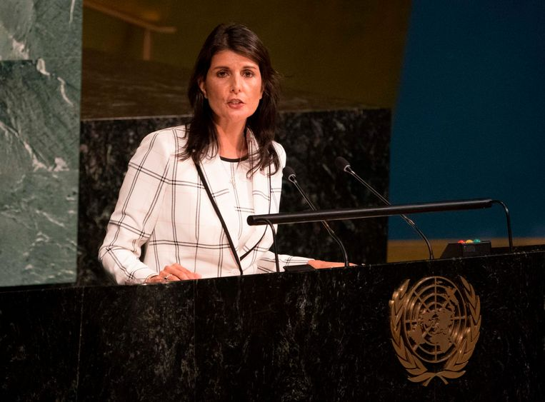 Amerikaans VN-ambassadeur Nikki Haley.