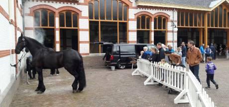 Koninklijke voertuigen bij Paleis Het Loo trekken veel bekijks