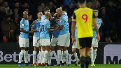 Man City nipt voorbij Watford, Vincent Kompany bewijst dat hij er nog staat