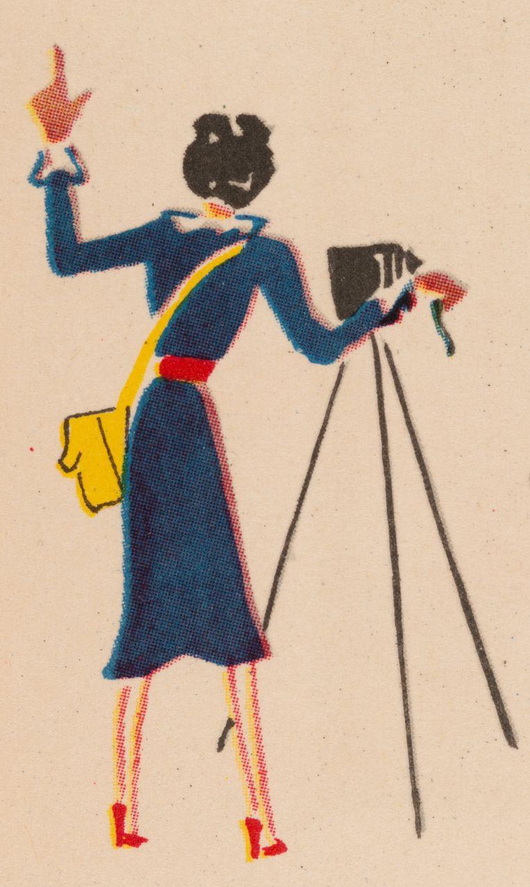 Een tekening van Ellen Thorbecke gemaakt door Friedrich Schiff op de titelpagina van Shanghai (1941). Beeld Friedrich Schiff / Nederlands Fotomuseum