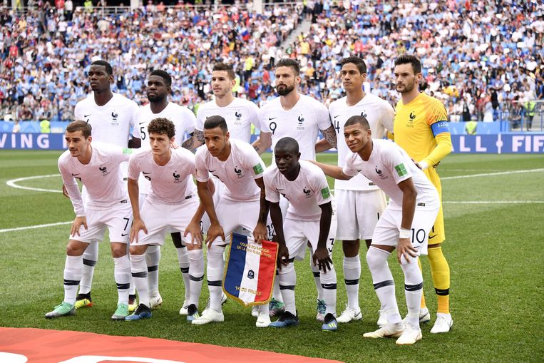 Het Franse team. Beeld Photo News