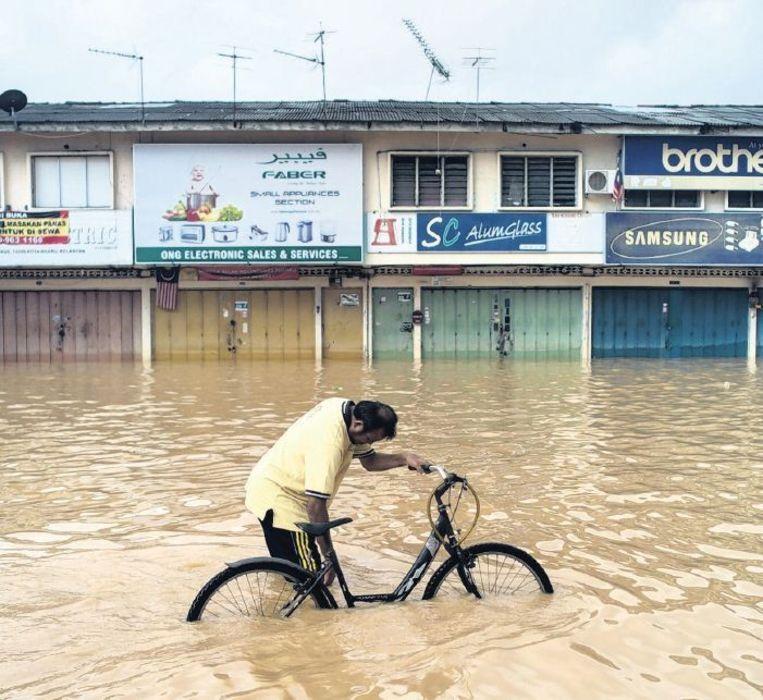 Overstroming in Maleisië, december vorig jaar. Beeld afp