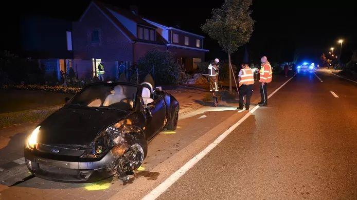 À Oostmalle, une conductrice de 45 ans a perdu le contrôle de son véhicule dans un virage.