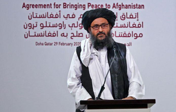 Medeoprichter van de taliban, Mullah Abdul Ghani Baradar.