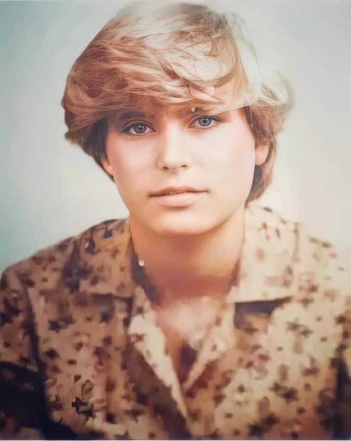 Nancy Van Landeghem, hier toen ze ongeveer 17 jaar was.