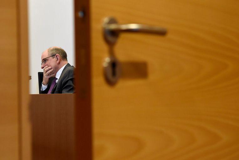Koen Geens tijdens de Kamercommissie. Beeld Photo News