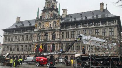 Opbouw podium Ronde van Vlaanderen van start