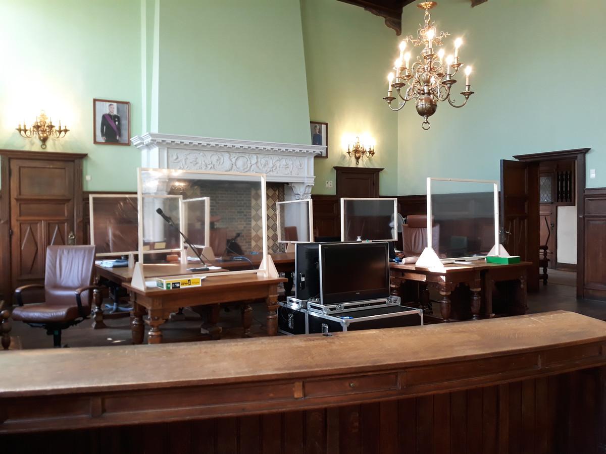 De correctionele zittingzaal in Mechelen.