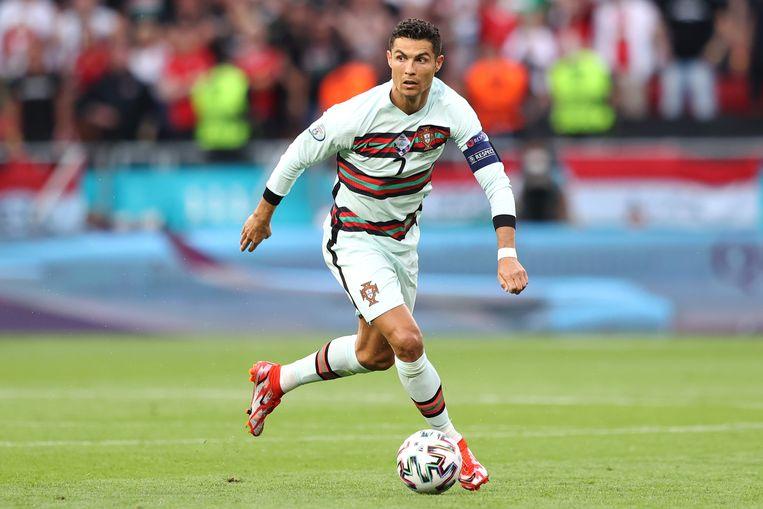 Onbedreigd aan kop gaat Ronaldo ook in het klassement van meeste EK-wedstrijden. Het duel tegen Hongarije was zijn 22ste. Beeld Getty Images