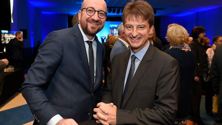 Premier Charles Michel (MR) en MR-voorzitter Olivier Chastel