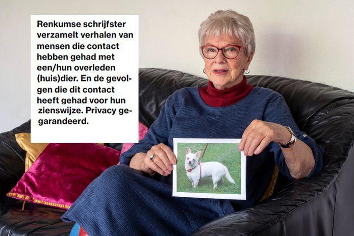 Anita Laverman verzamelt verhalen van mensen die paranormale contacten hadden met een overleden dier. Ze plaatste een oproep in de populaire rubriek 'Lezers helpen lezers' in de Gelderlander.