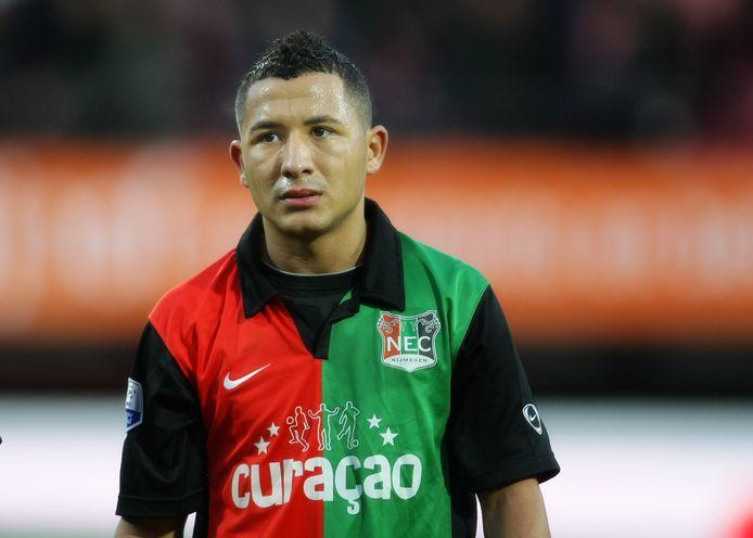 Rachid Bouaouzan als speler van NEC in 2009.